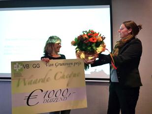 Marjolein van Stiphout wint Marcel van Grunsvenprijs